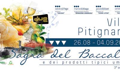 Sagra del Baccalà 2016 a Villa Pitignano dal 26 agosto al 4 settembre 2016