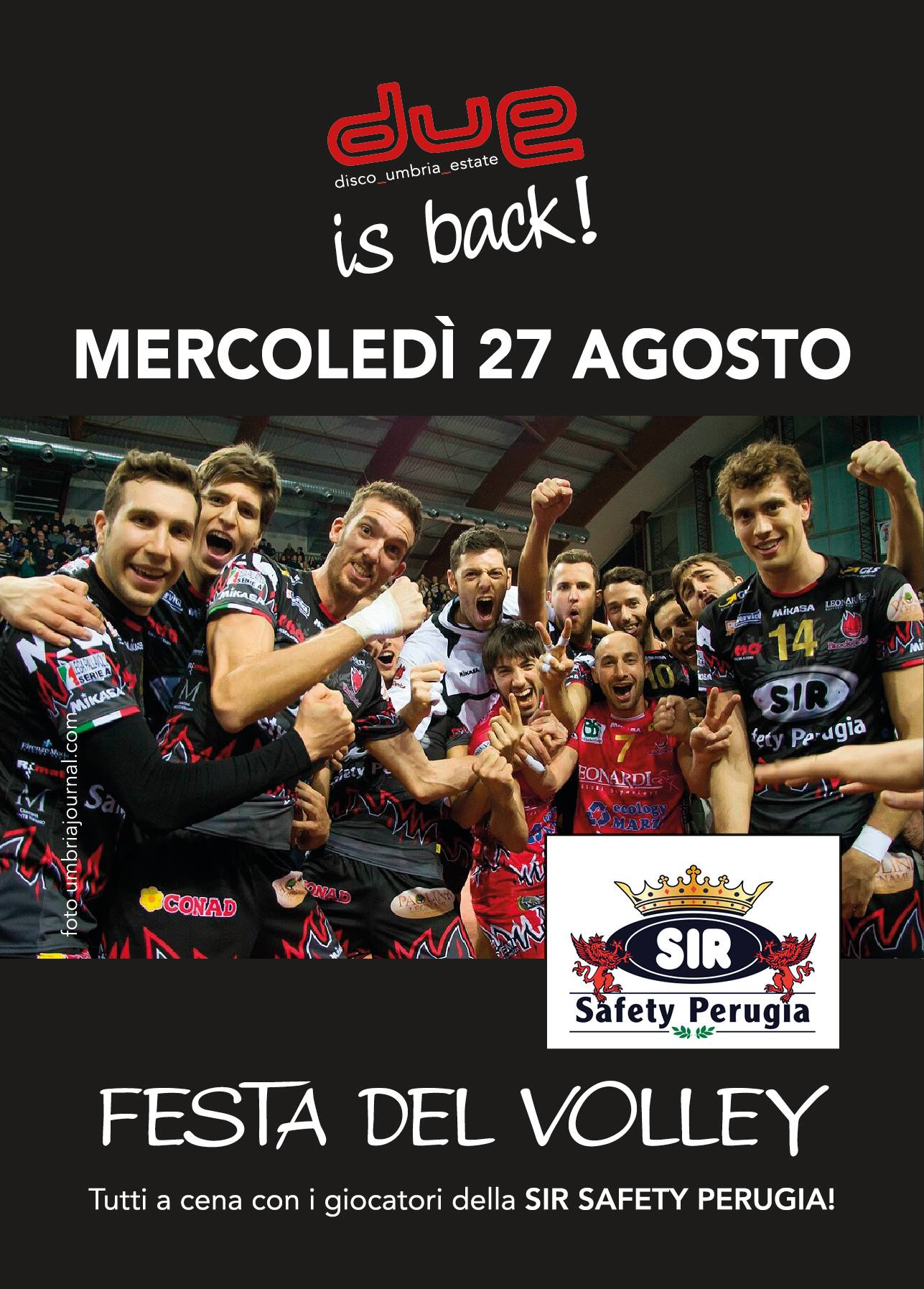 Cena del Volley con la Sir Safety Perugia
